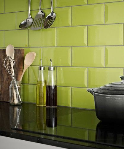 Metro lime tiles topps tiles pinterest for Metro tiles kitchen ideas