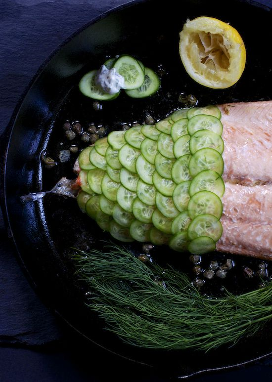 foodwanderings: Olive Oil Poached Salmon With Lemon Dill Aioli; 5774 Recipe