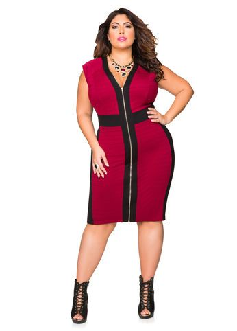 e9d47ed3ddf Front Zip Ribbed Knit Bodycon Dress Front Zip Ribbed Knit Bodycon Dress
