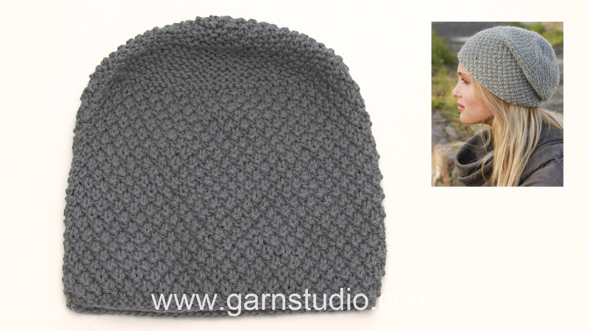 How to knit the hat in DROPS 150-40 | gorro | Pinterest | Tejido en ...