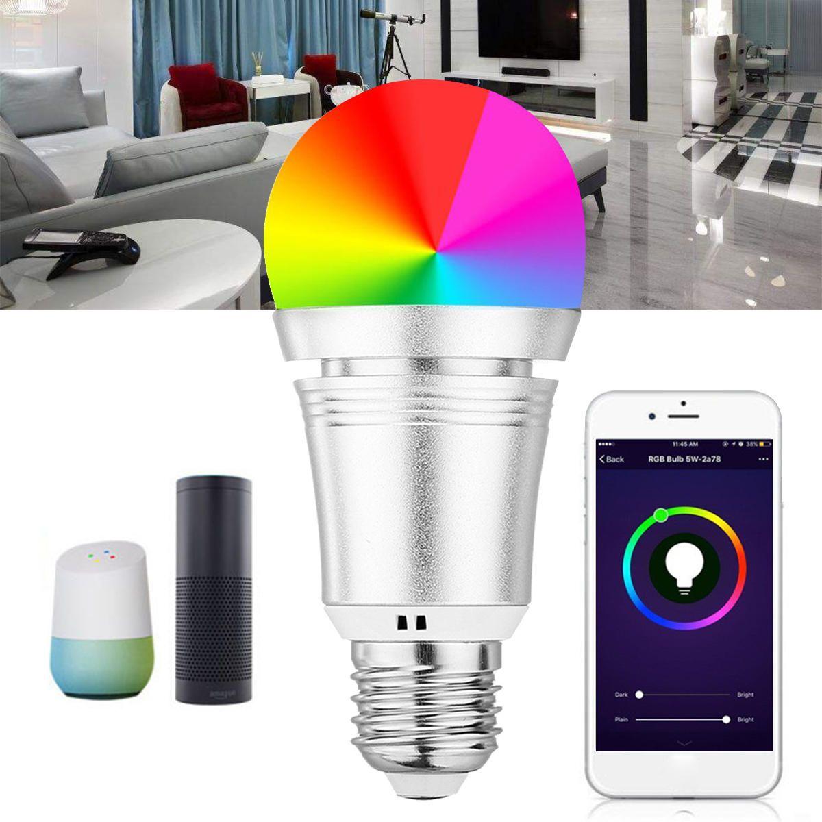 Us 13 99 7w E27 Wifi Led Rgb Light Smart Bulb App Remote Control