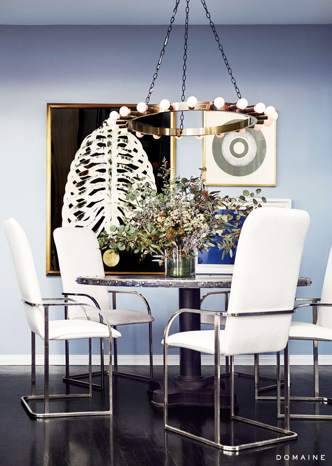 gorgeous rooms where lighting steals the show blue walls dark