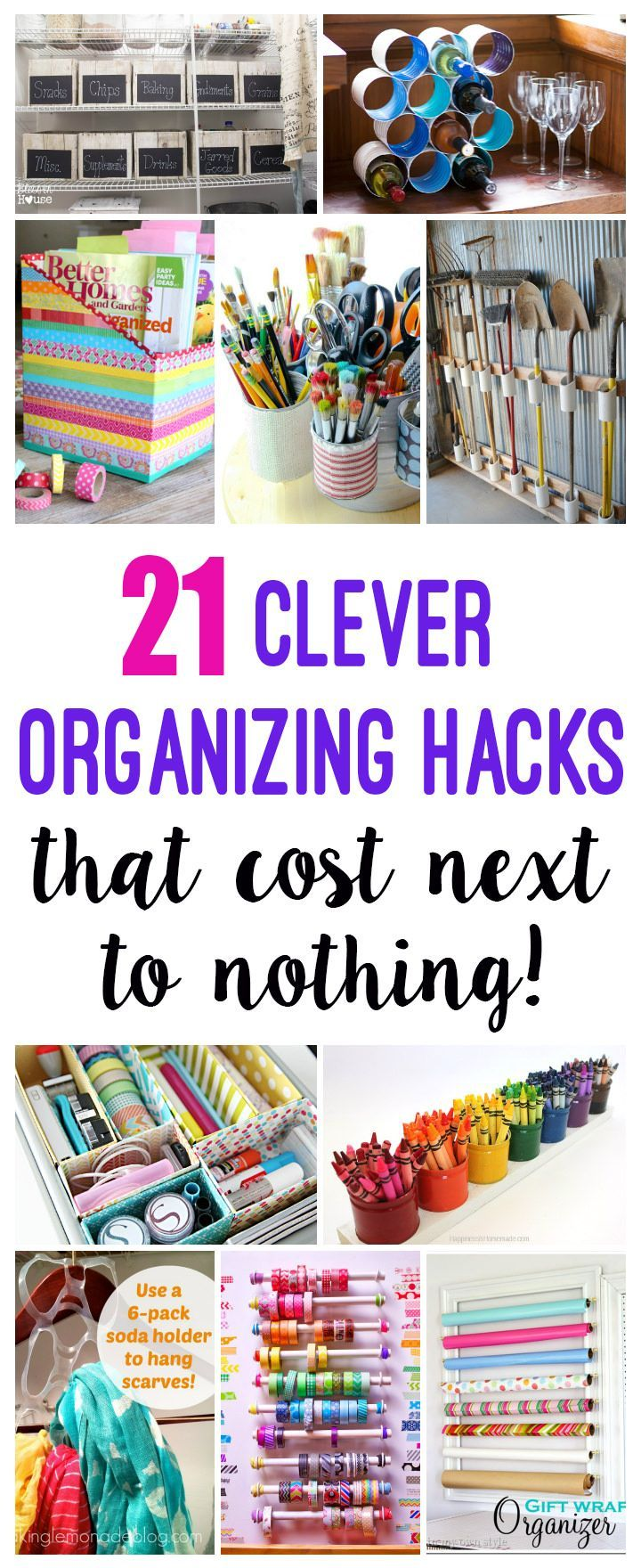 These 21 genius DIY organization hacks can help you in organizing your favorite items. Check out!