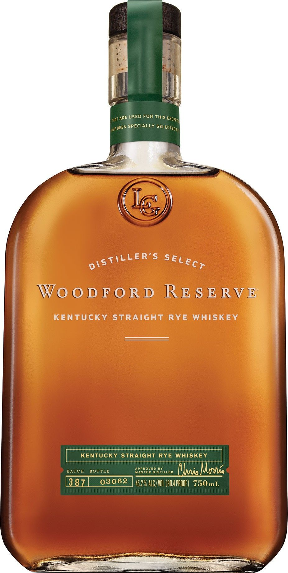 Woodford Reserve Kentucky Straight Rye #Whiskey. This brand-new rye, which is aged for a minimum of four years, is made from a unique mashbill containing only 53% rye grains. | @Caskers