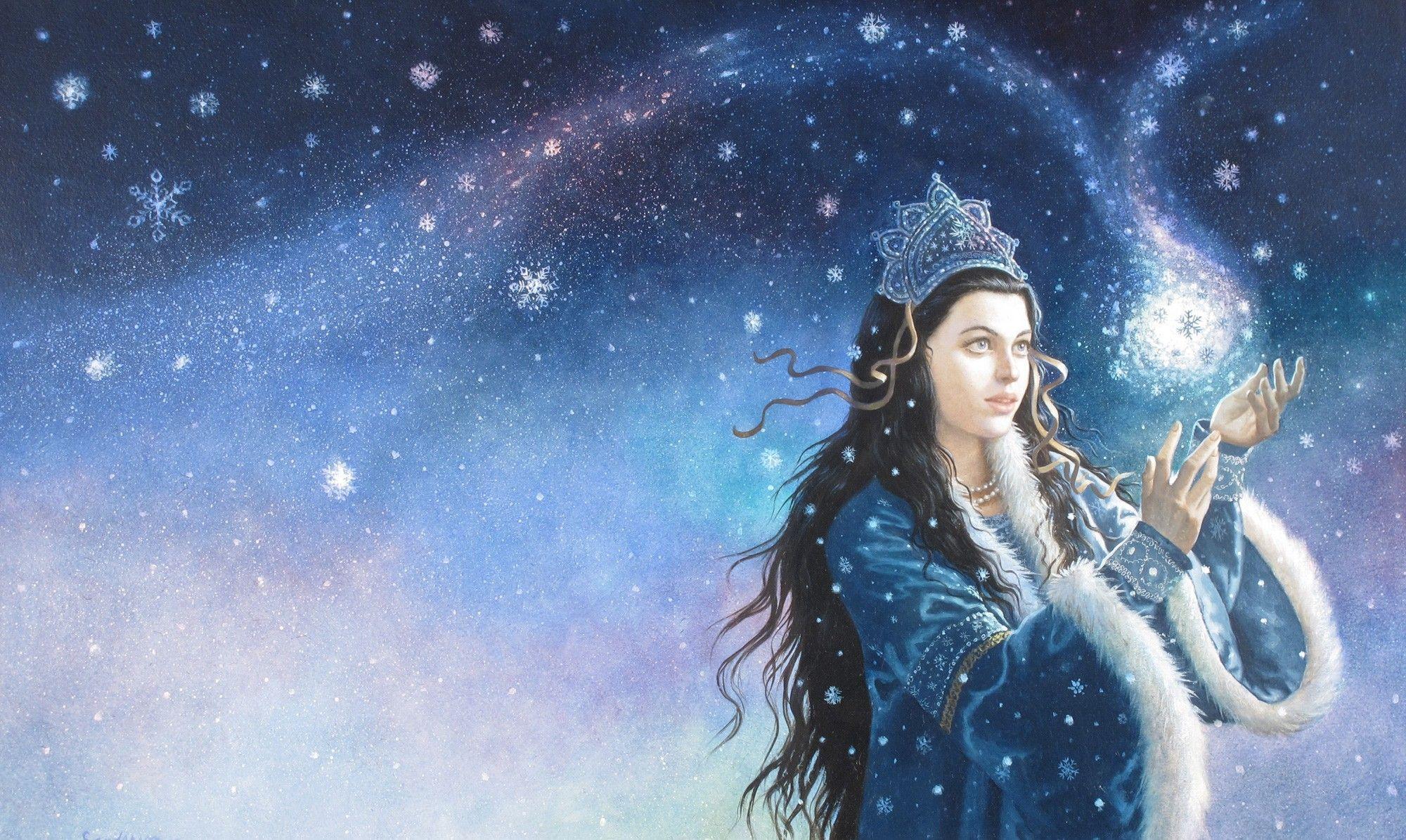 Картинки приколы, открытка волшебница зима