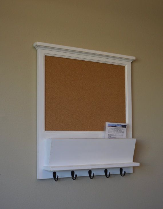 Cork Bulletin Board Mail Organizer Message Board Https Www Etsy