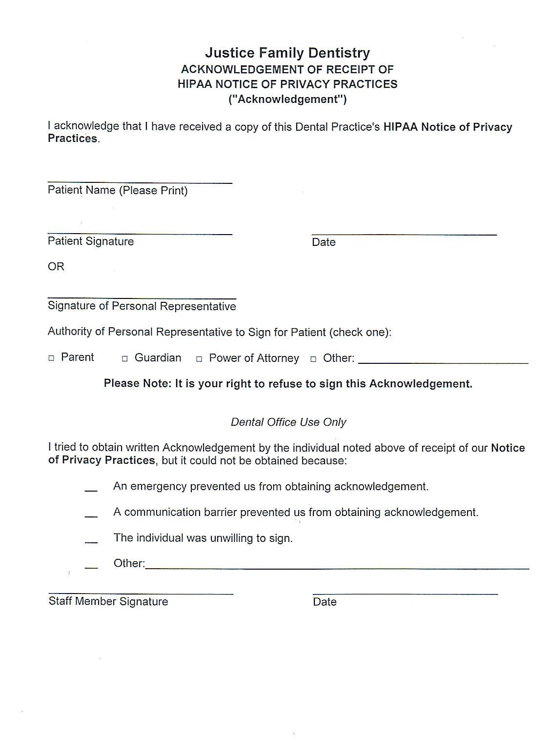 Free Printable Office Forms Lovely 71 Free Printable Hipaa Forms Free Printable Hipaa Forms Monthly Budget Template Dental Practice Family Dentistry