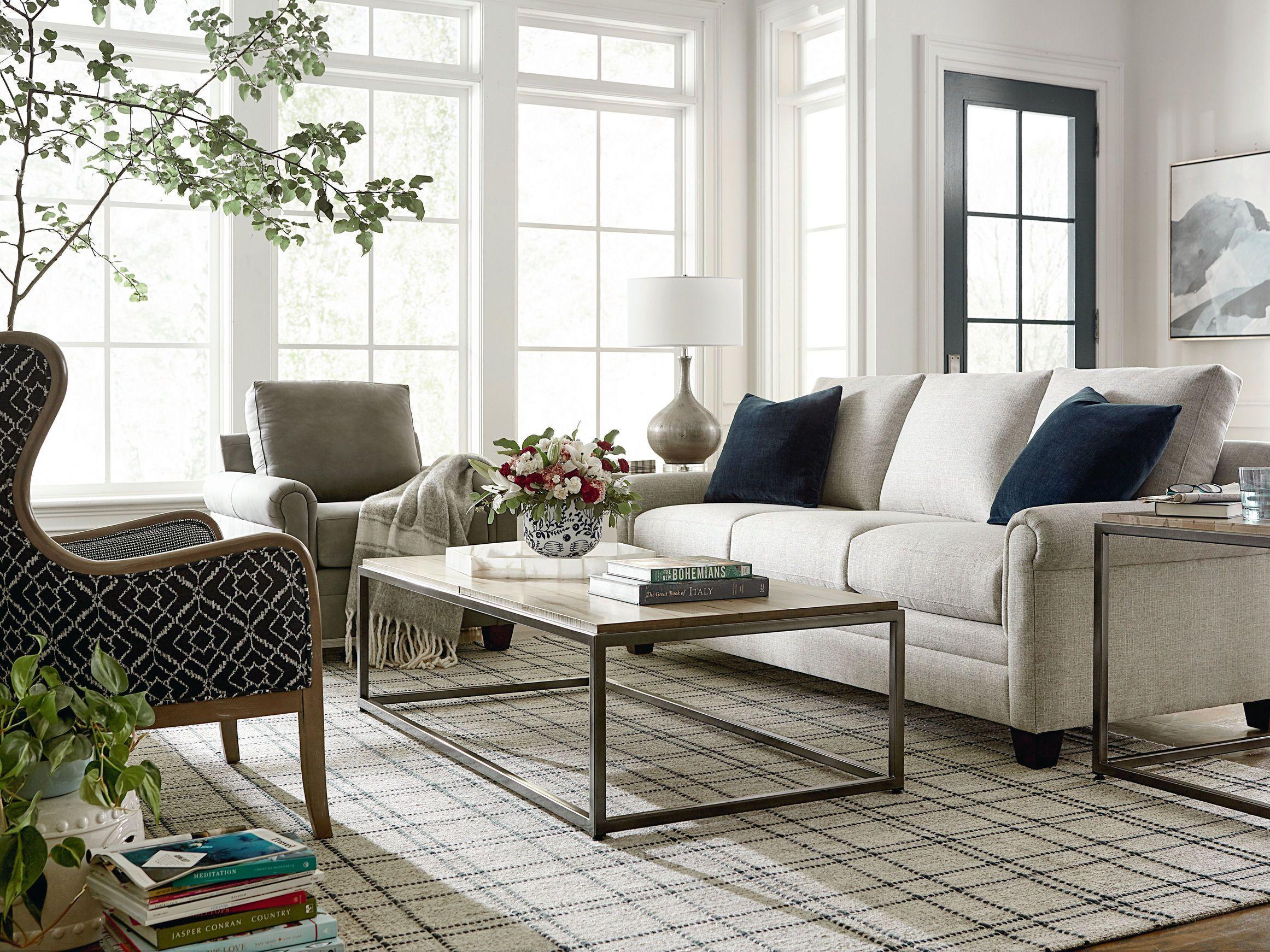 Carolina Panel Arm Sofa Bassett Furniture Furniture Custom Furniture Design your own living room furniture
