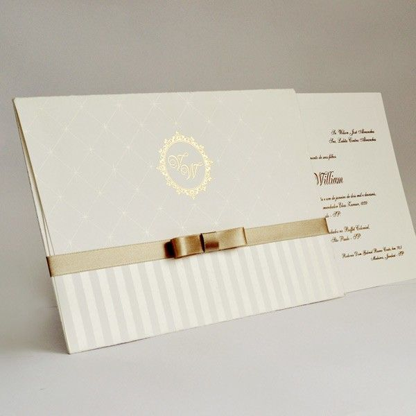 30c6cfae8 Convite de casamento tradicional - Papel e Estilo - Loja Online  www.lojadeconvite.com.br