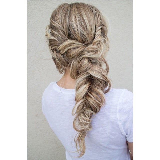 """10.1 mil curtidas, 233 comentários - Hair and Makeup by Steph (@hairandmakeupbysteph) no Instagram: """"Soft fishtail braid. #hairandmakeupbysteph"""""""