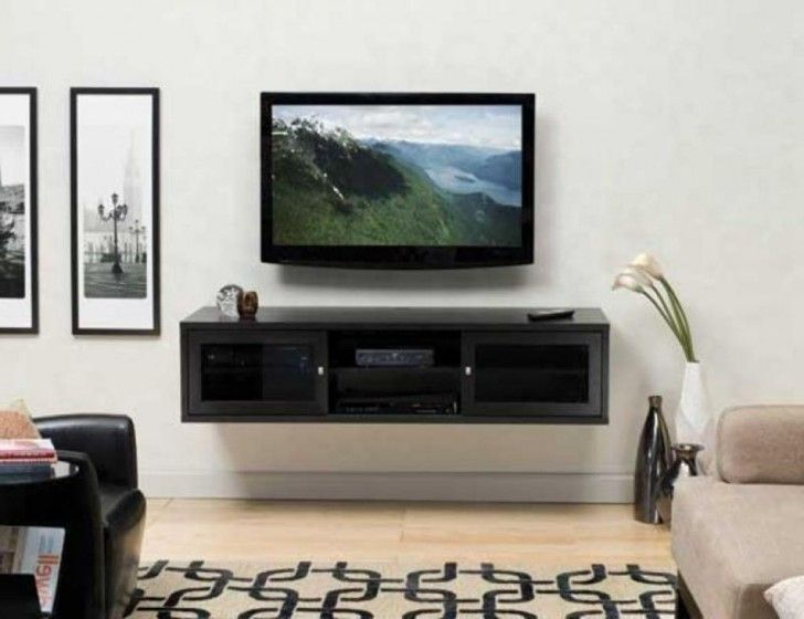 18 Chic And Modern Tv Wall Mount Ideas For Living Room Wall Mount Tv Stand Wall Mounted Tv Cabinet Modern Tv Wall