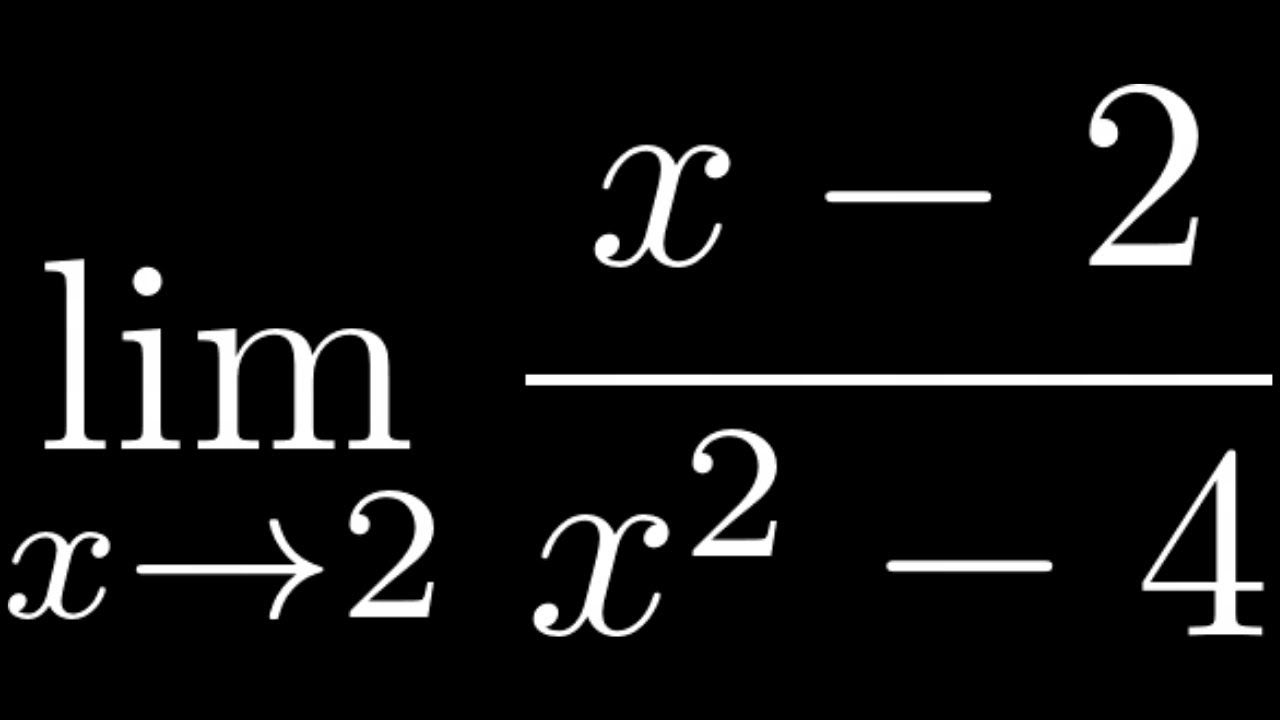 The Limit Of X 2 X 2 4 As X Approaches 2 With L Hopital S And Fa In 2020 Math Videos Solutions Mathematics