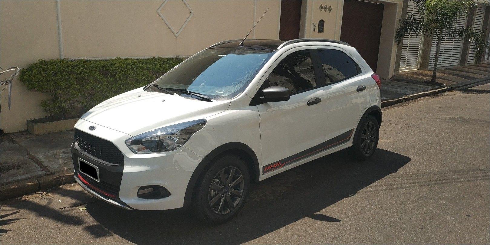 Ford Ka Branco Envelopado Boca Preta Suv Suv Car Car