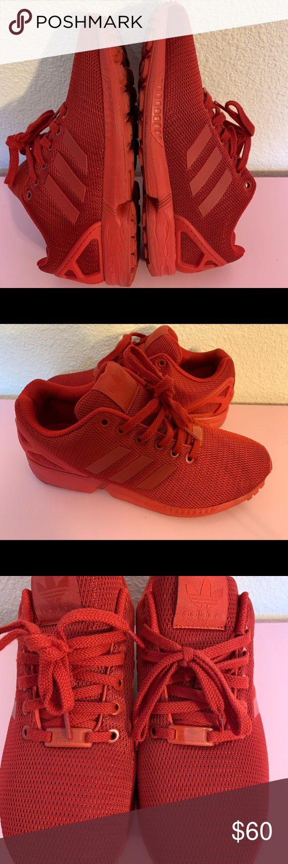 Adidas red ZX flux classics Bought