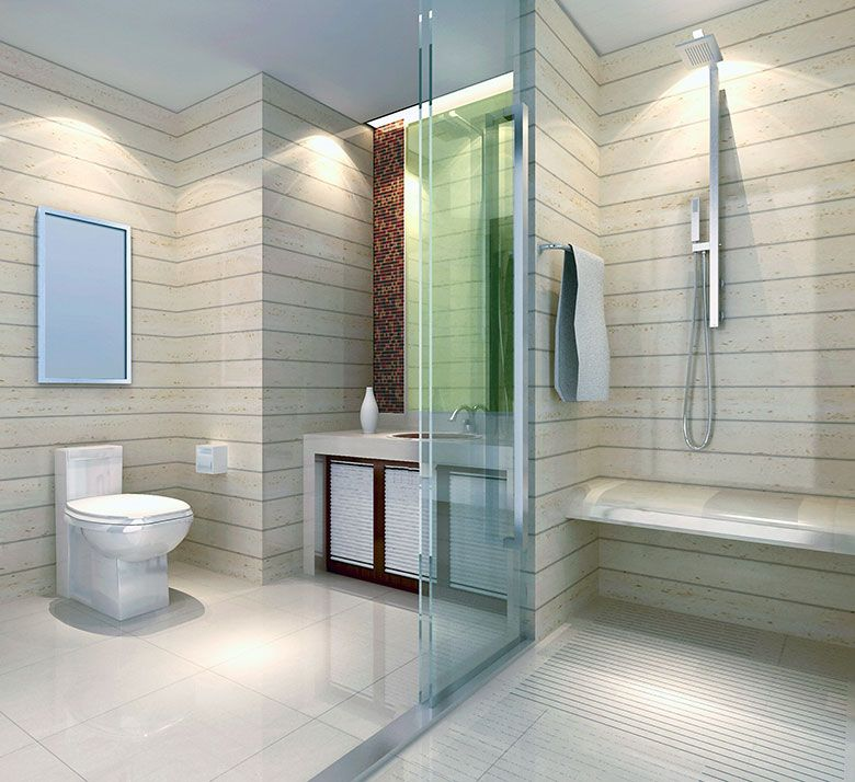 Badkamer voorbeelden met inloopdouche zie je niet zo vaak netjes ...