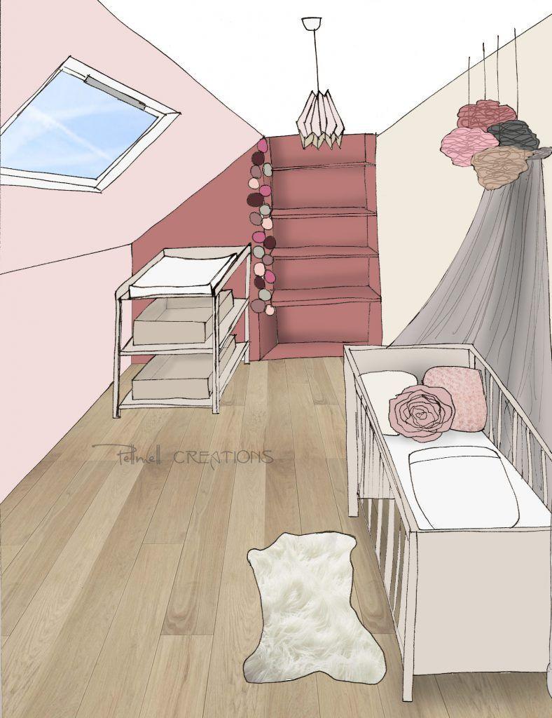 Une Chambre Bebe Rose Poudre Et Violet Pellmell Deco Chambre