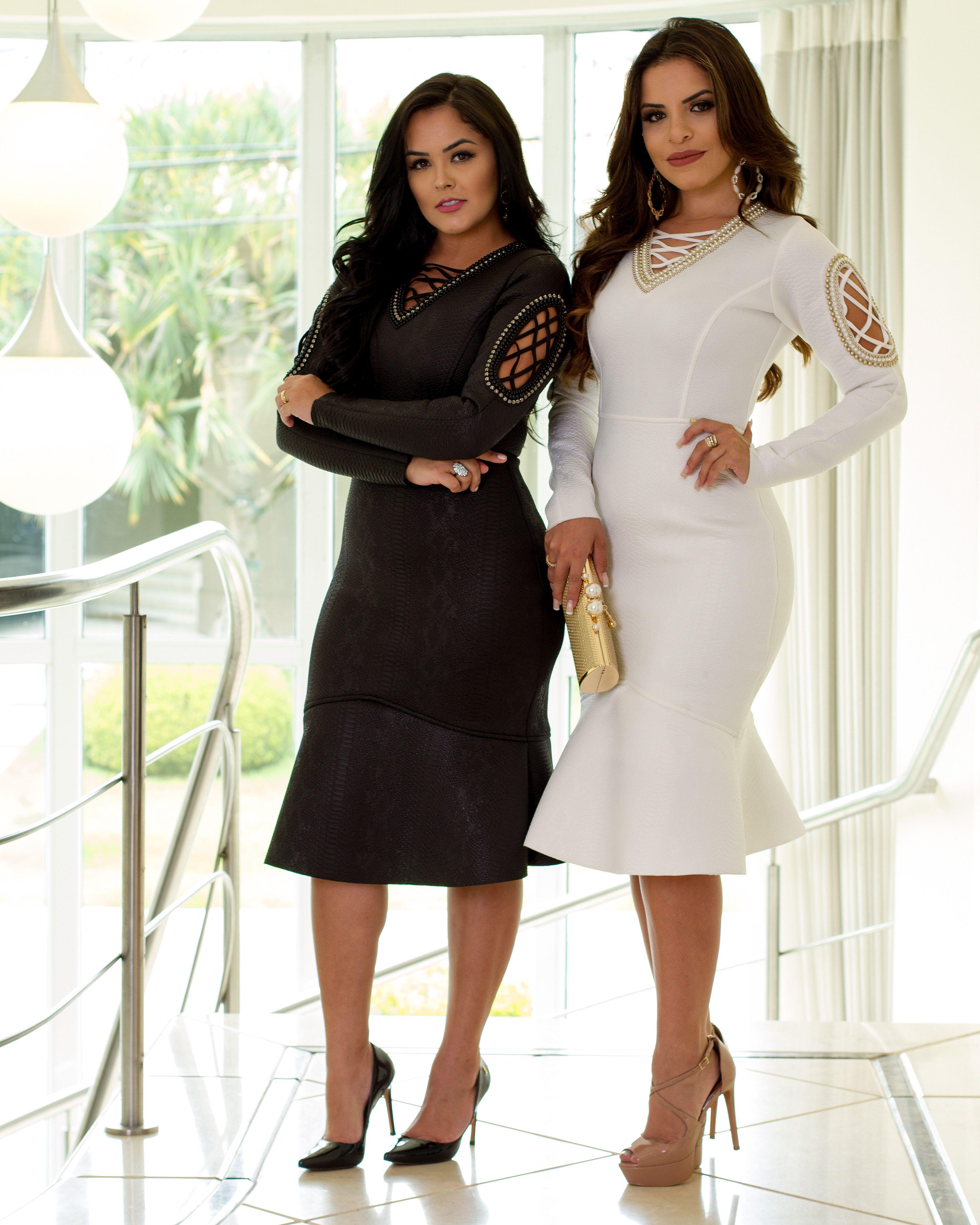 fc27128d5 Vestido | Roupas - Vestidos em 2019 | Trendy outfits, Dress suits e ...