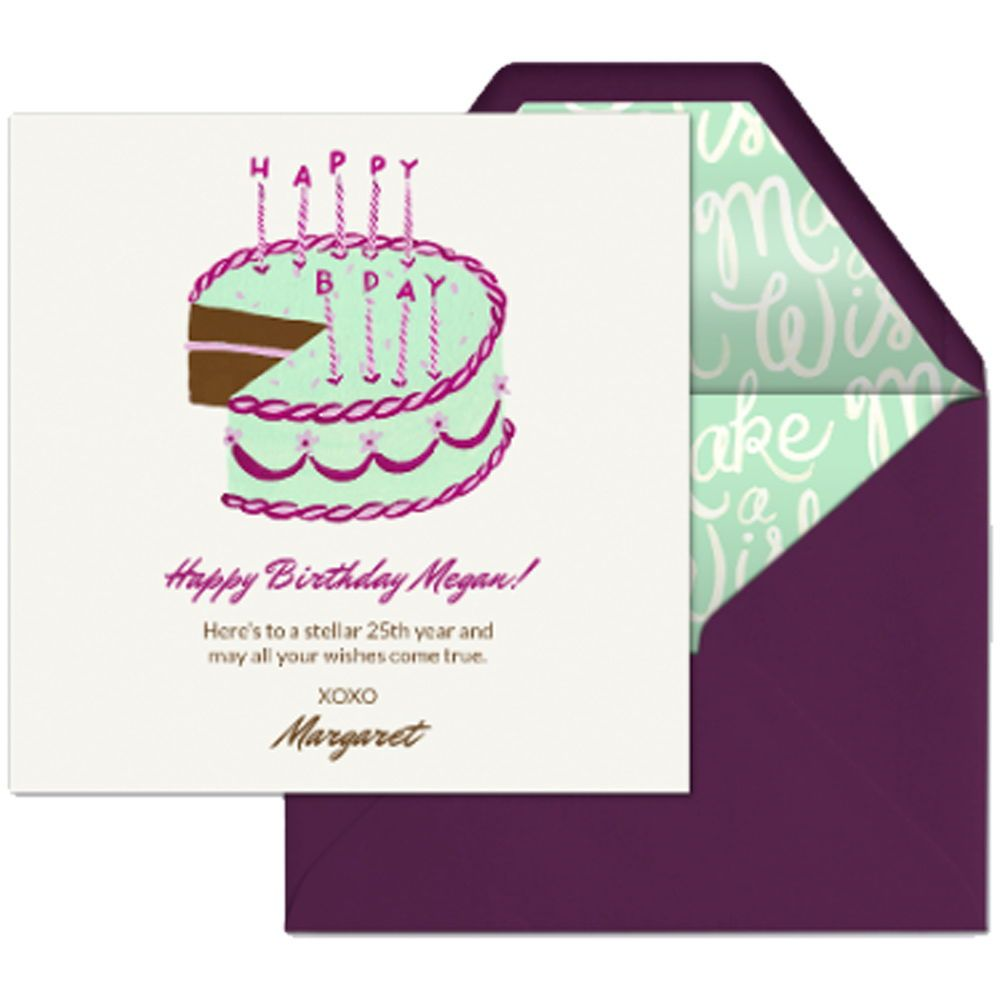 Wish A Sweet Birthday With This Digital Card From Evite Happy