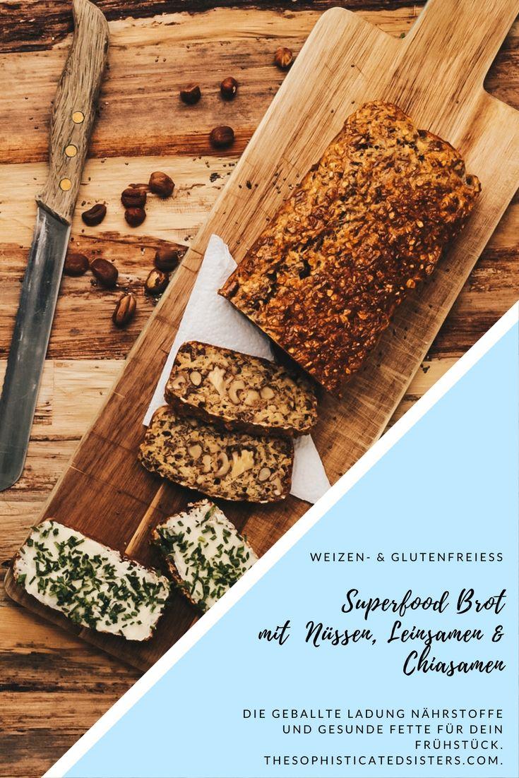 Unser glutenfreies, veganes Superfood-Brot mit Nüssen und Samen ...