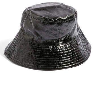 8b953bcb5784b TOPSHOP Vinyl Bucket Hat  hat  womens