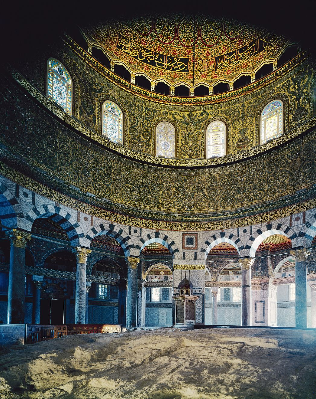 the umayyad dome of the rock Located on the temple mount in jerusalem, the dome of the rock was  constructed at the end of the seventh century by order of caliph 'abd al-malik.