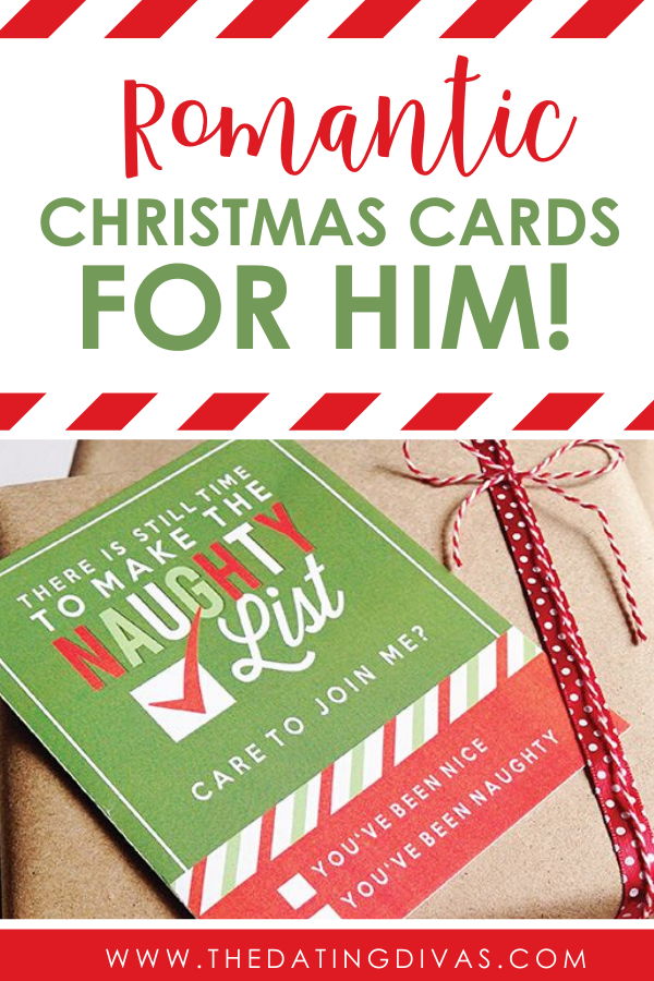 Romantic Christmas Cards For Him The Dating Divas in