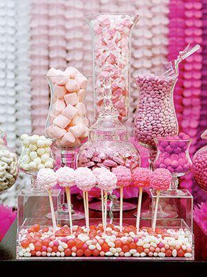 Pink Candy Dessert Tables
