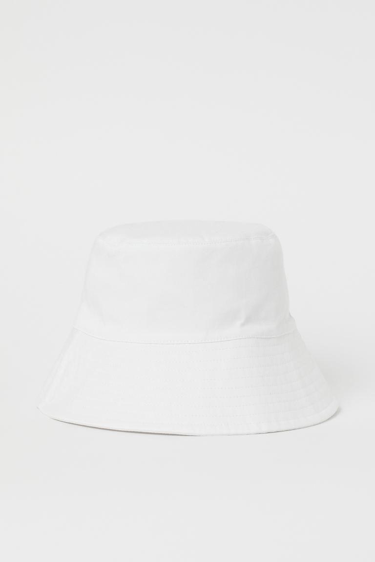 Panama Iz Hlopka Belyj Zhenshiny H M Ru Outfits With Hats Bucket Hat Fashion Bucket Hat Outfit