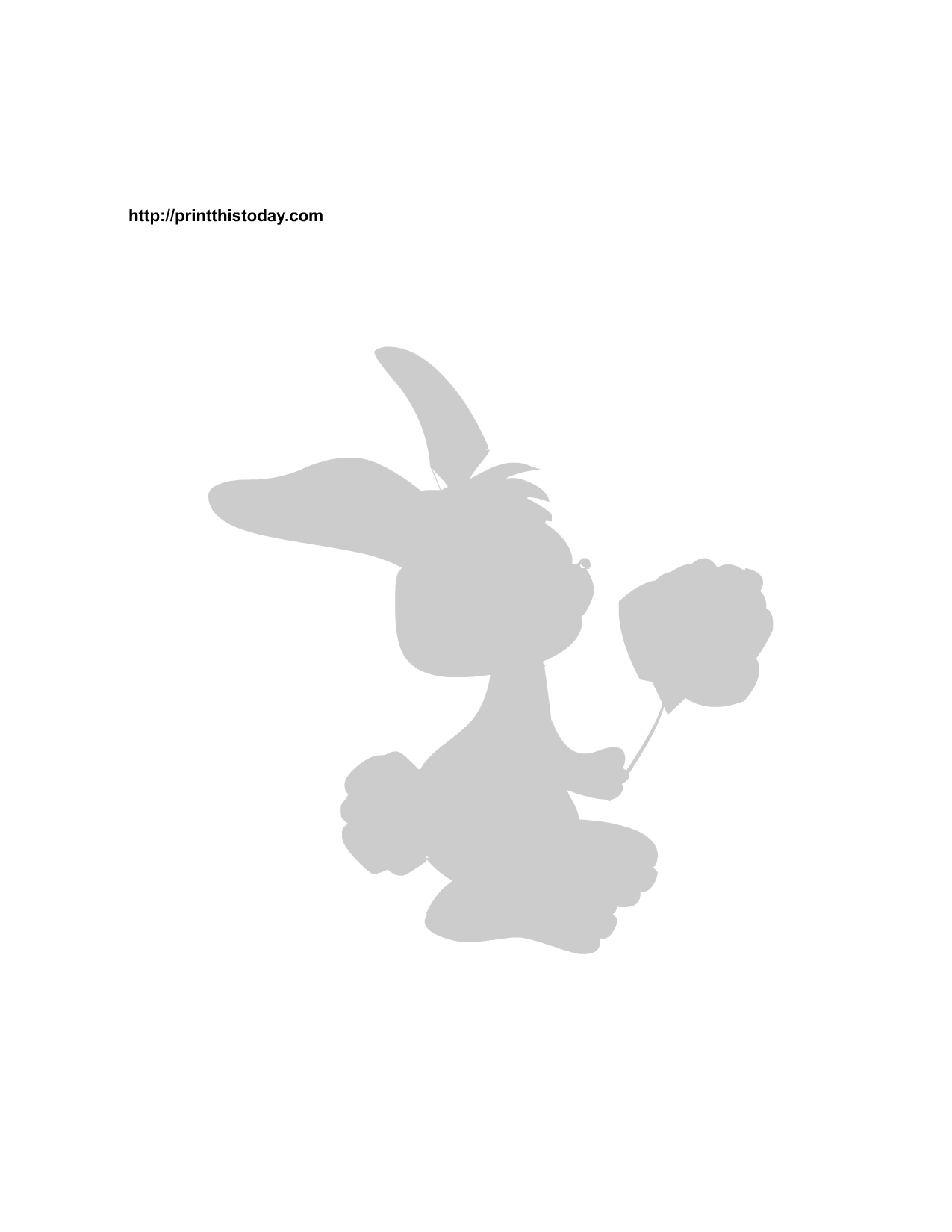 bunnies silhouettes easter bunny holding a rose stencil