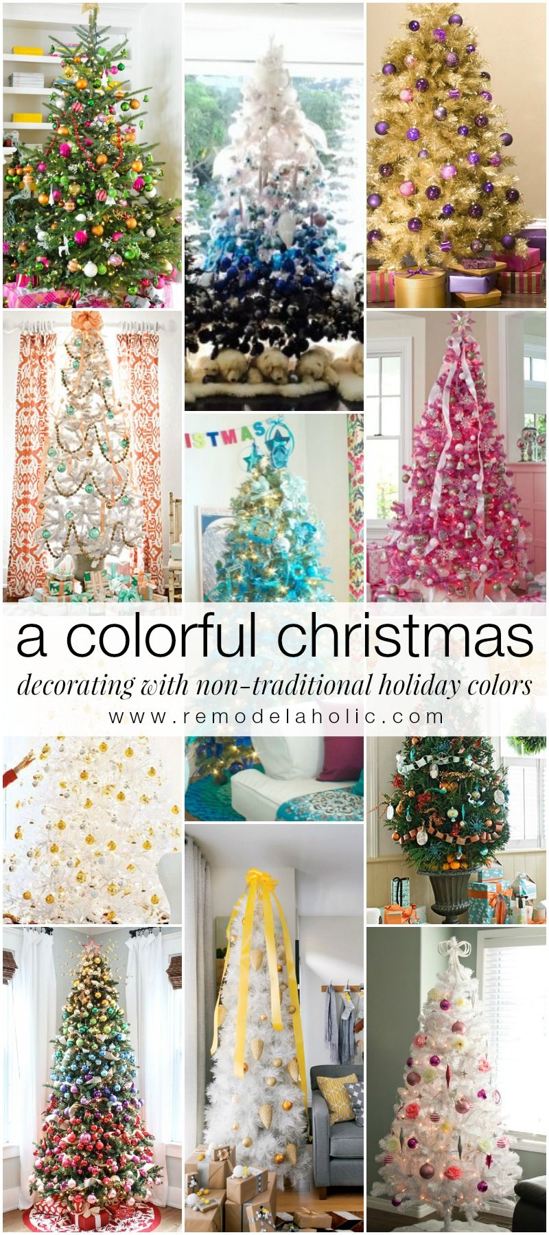Decorating with Non-Traditional Christmas Colors @Remodeaholic ...