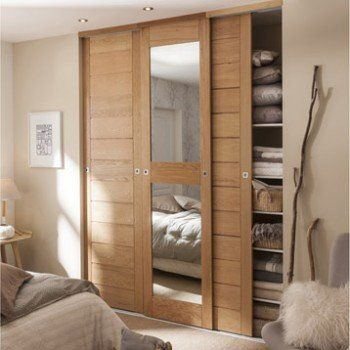 KAZED - portes de placard coulissantes Kabourg naturel Chambre à - porte coulissante sur mesure prix