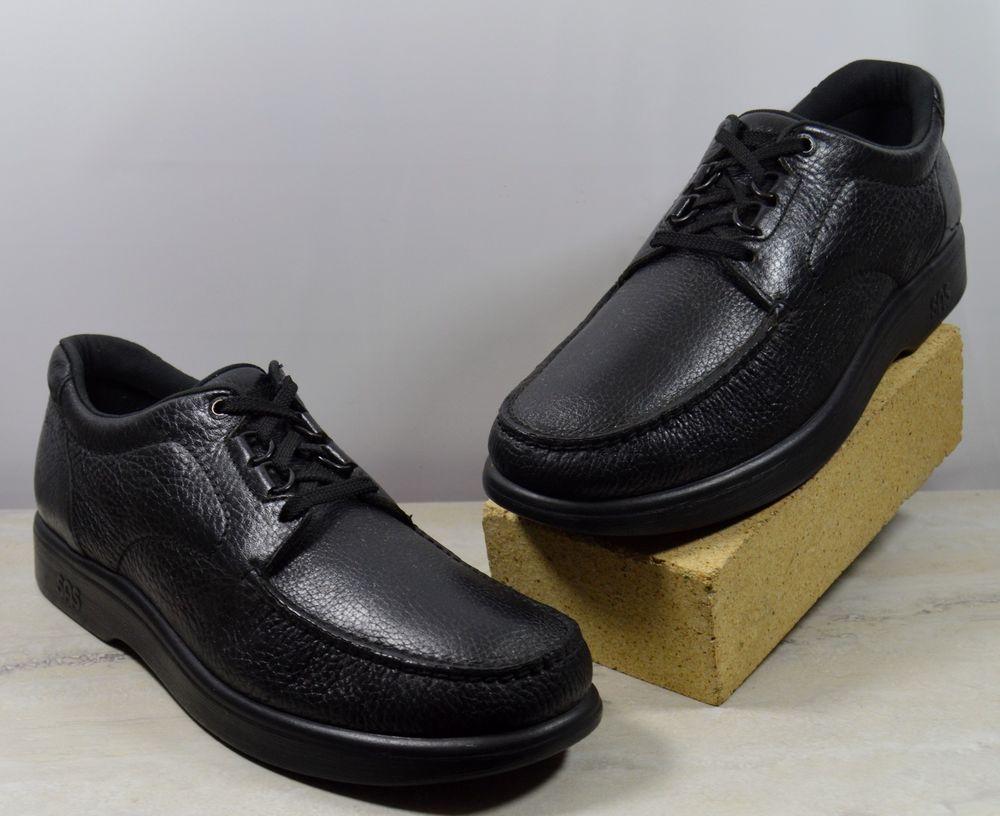 518864d0a7 SAS Bout Time Black Leather Tripad Comfort Walking Oxfords Shoes Men's Size  12 S #SAS #Oxfords