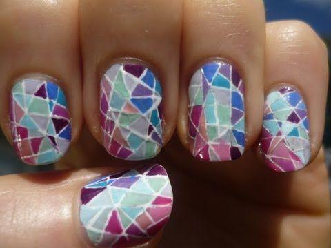 Stained Glass Nail Art Tutorial Nail Art Nail Art Nails Nail