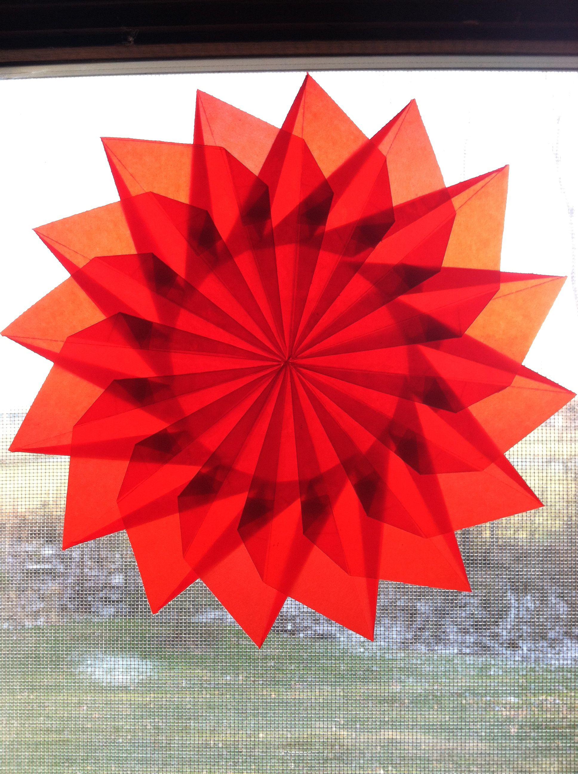 One Of The Origami Sun Catchers My Son David Has Made Sun Art