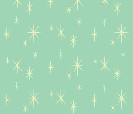 Starburst Wallpaper Pattern On Aqua Background