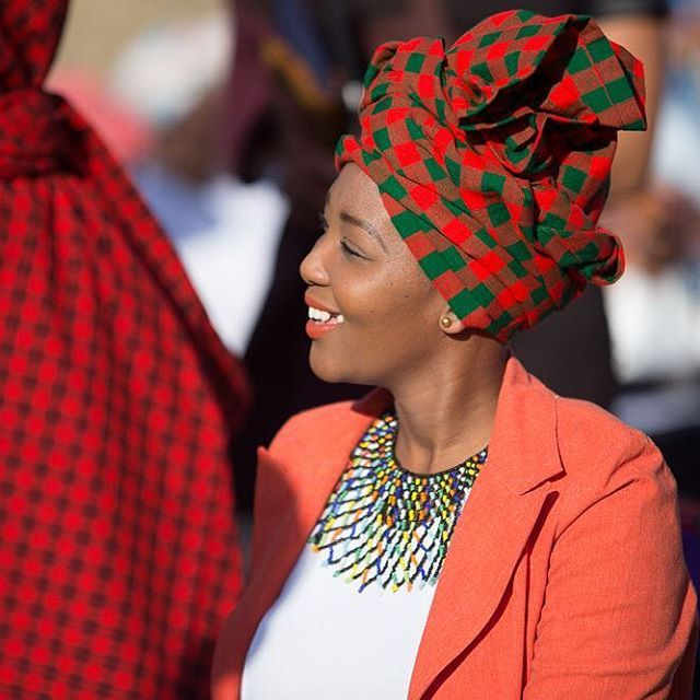 This Red Green Masai Doek Head Wrap Is Still Available