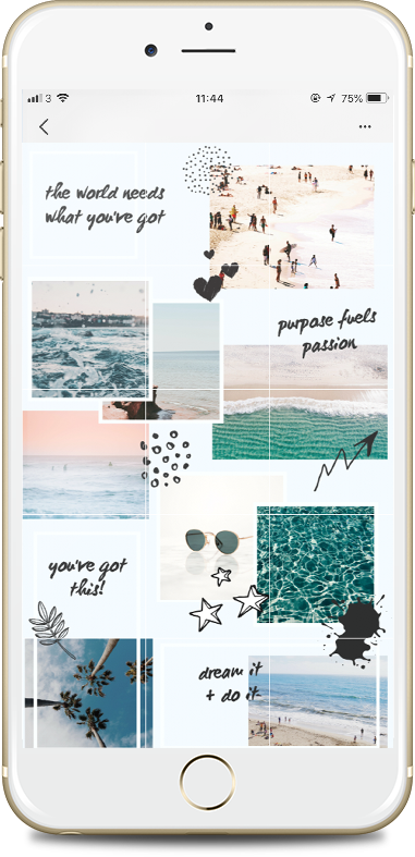 Ukuran Feed Instagram Di Photoshop : ukuran, instagram, photoshop, Instagram, Puzzle, Template, Canva, Desain, Ilustrasi,, Grafis,