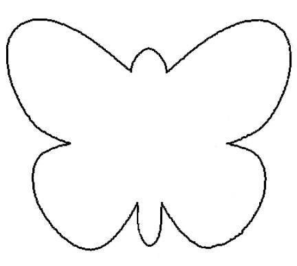 25 Fresh Paper Crafts for Spring Butterfly template, Butterfly - pattern block template