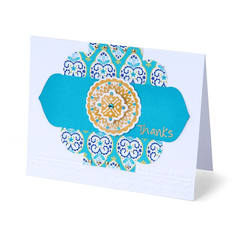 Exotic Floral Thanks Card by Cara Mariano - Scrapbook.com
