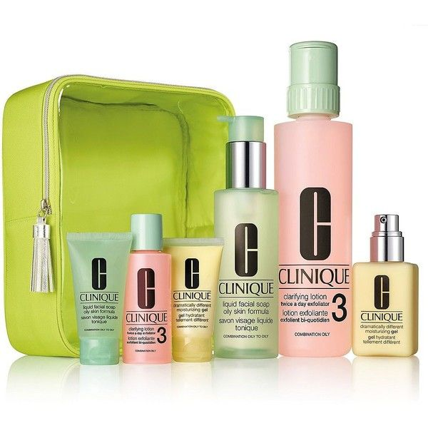 Clinique 3 Step Skin Care Set For Oily Skin 245 Sar Liked On Polyvore Featuring Beauty Products Skincare Set Oily Skin Gel Moisturizer