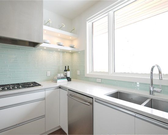 Kitchen Glass Tile Backsplash Home And