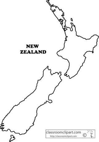 New Zealand Map Outline new zealand map outline」の画像検索結果 (With images) | Map of new