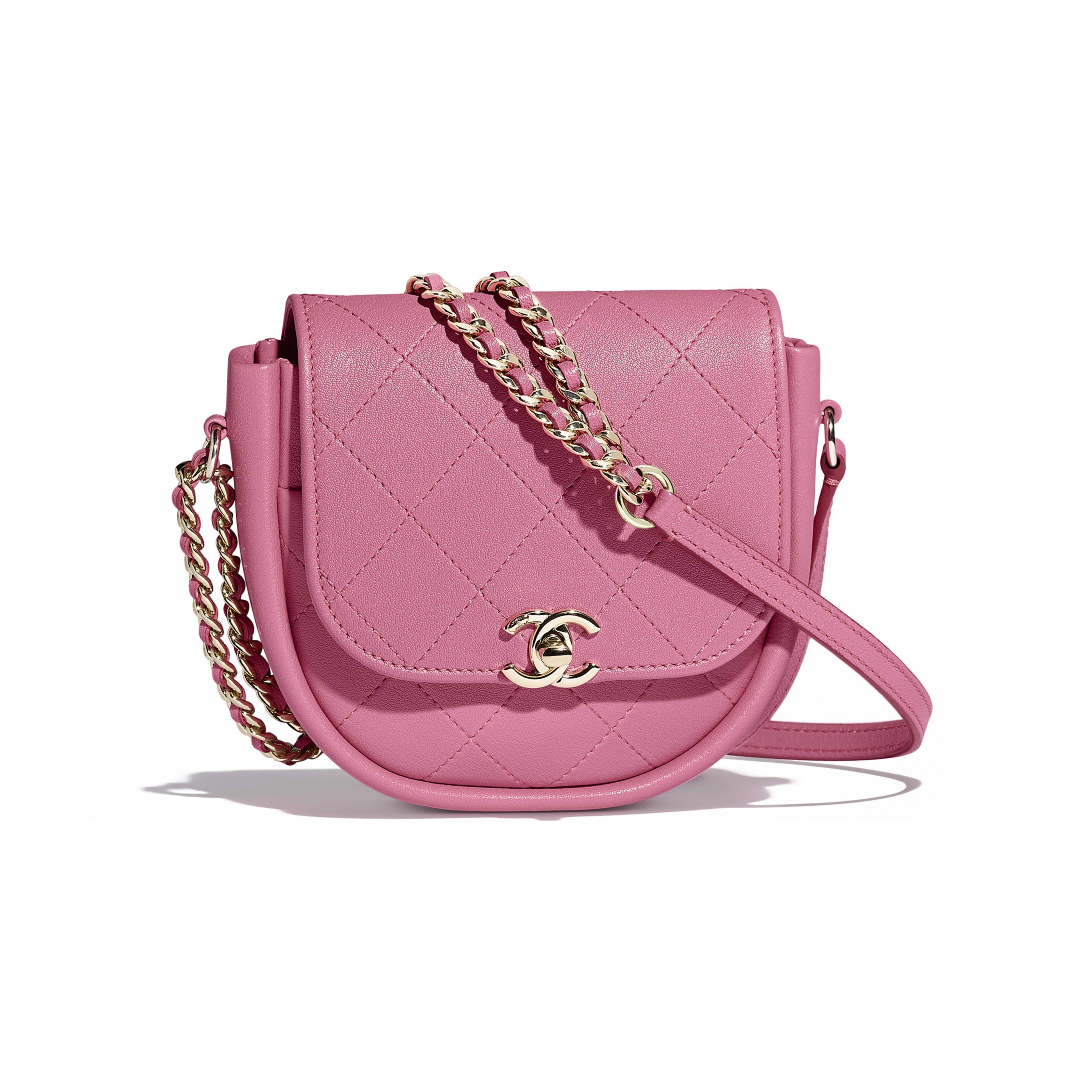 c3f2abb008 Messenger Bag - Pink - Lambskin   Gold-Tone Metal - Default view - see