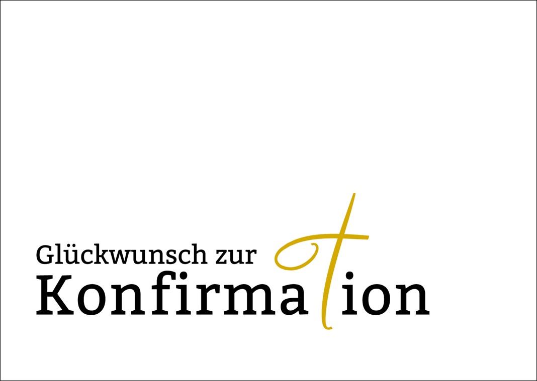 Kostenlose Vorlage: Glückwunschkarte zur Konfirmation - mehr ...