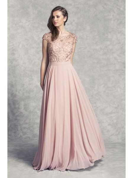 This Elegant Bridesmaid Dress Comes In Dusty Rose Gold And Sizes From S 3xl Rose Gold Bridesmaid Dress Gold Bridesmaid Dresses Dusty Rose Gown