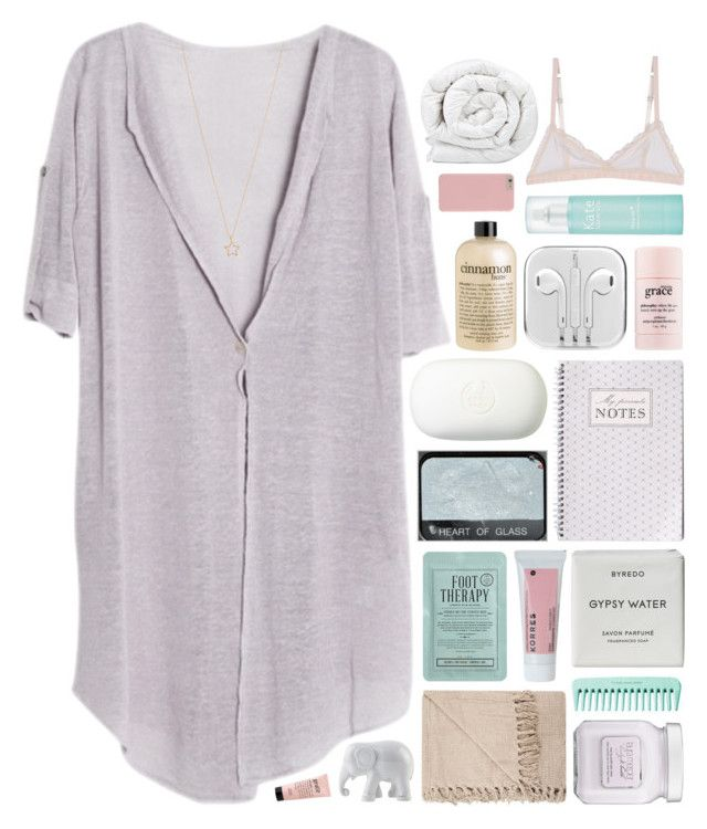 """""""baby lemme be good to you"""" by annamari-a ❤ liked on Polyvore featuring Brinkhaus, Hoff By Hoff, The Body Shop, philosophy, Kate Somerville, Kocostar, Korres, The Elephant Family, Laura Mercier and Byredo"""