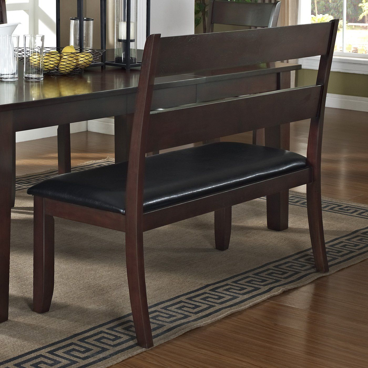 dining table bench with backrest. urban styles furniture 2814 skyline bench with backrest at atg stores dining table e