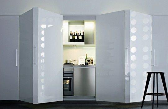 Small Hide Away Kitchen Progettazione Di Una Cucina Moderna