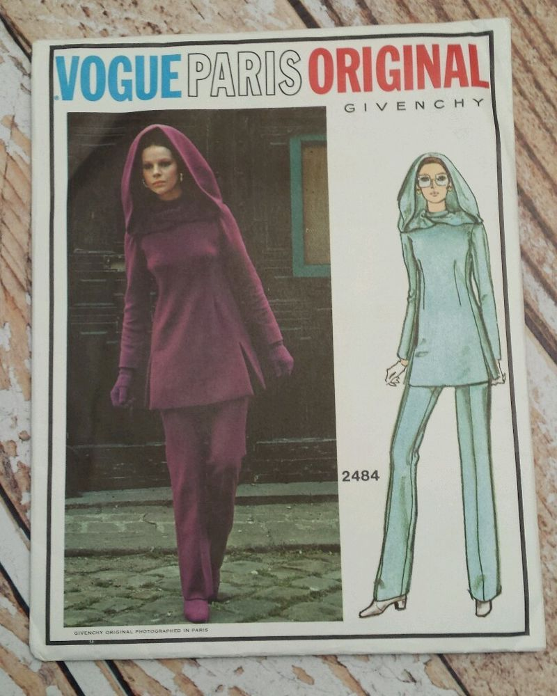 Vtg Vogue Paris Original Sz 10 Givenchy Pattern Hooded Tunic Pants ...