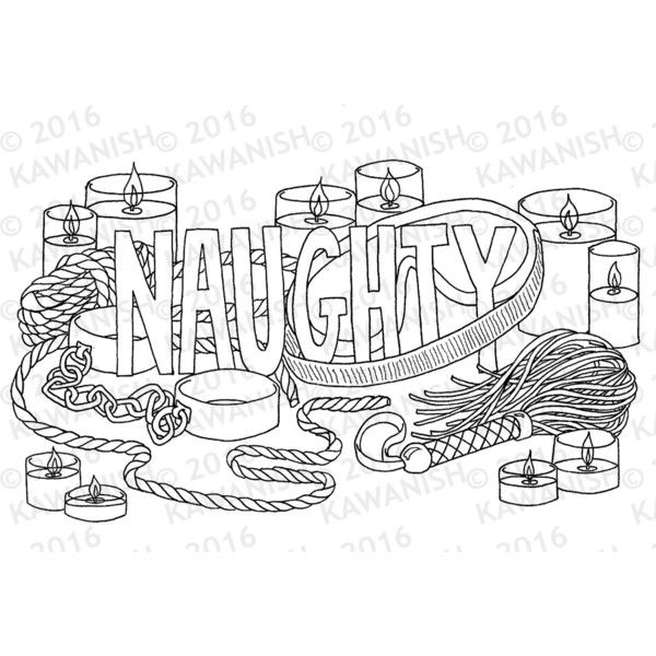bdsm coloring pages naughty kinky BDSM adult coloring page wall art ($1.70) ❤ liked  bdsm coloring pages